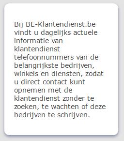 be-klantendienst - Telefoonnummer BKCP Bank